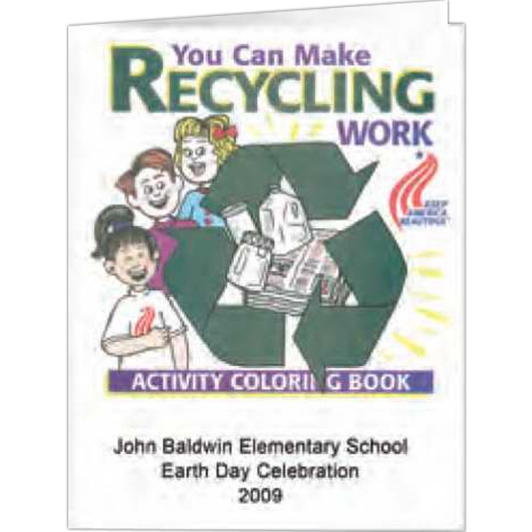 Make Recycling Work - Coloring Book, 8 Pages Photo