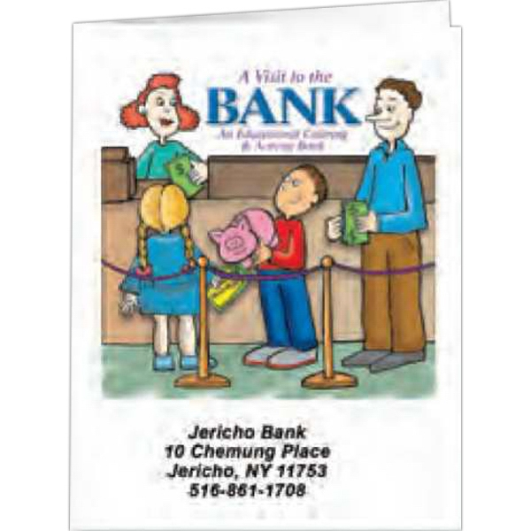 A Visit To The Bank - Coloring Book, 8 Pages Photo