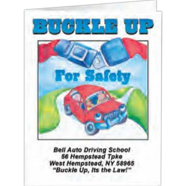 Buckle Up For Safety - Coloring Book, 8 Pages Photo