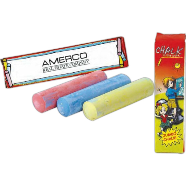 One Pack Jumbo Chalk In Assorted Colors Photo