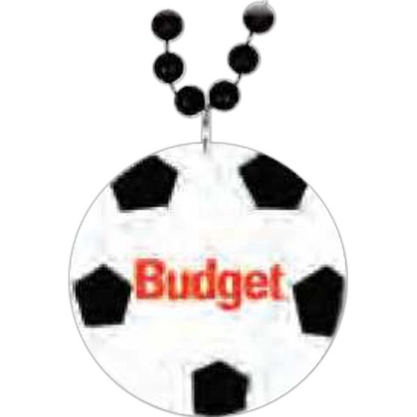 Soccer Medallion Beads