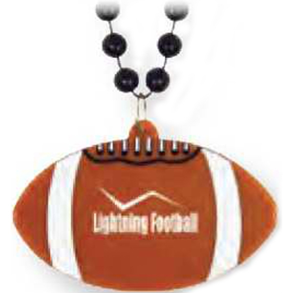 "Football Medallion - Sport Medallion Necklaces, Medallion Is 2 1/2"" On 33"" Long Necklace Photo"