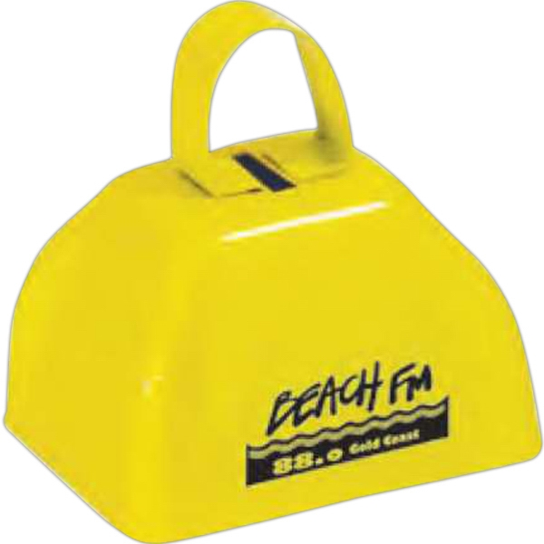 Three Inch Yellow Cowbell Photo