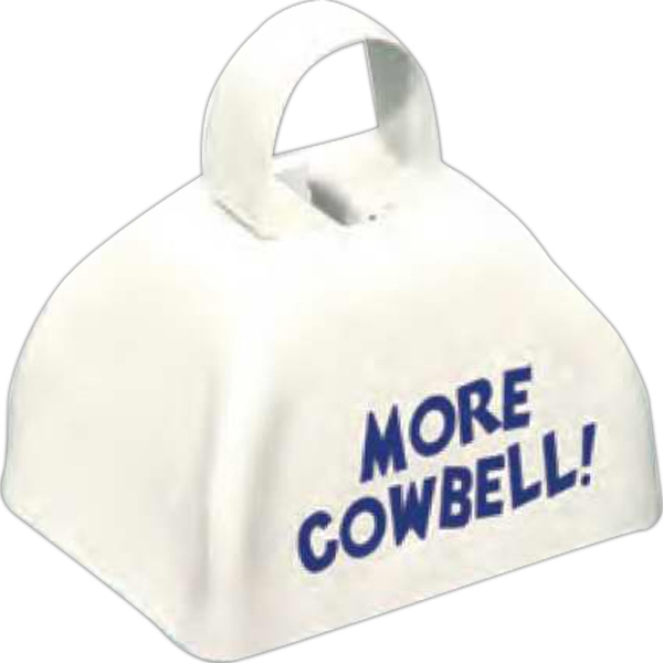 Three Inch White Classic Cowbell Photo