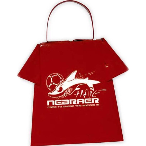 Red - Cowbell Shaped Like A T-shirt, Perfect For Many Clothing Promotions Photo