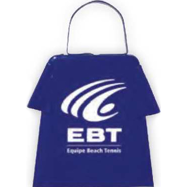 Blue - Cowbell Shaped Like A T-shirt, Perfect For Many Clothing Promotions Photo