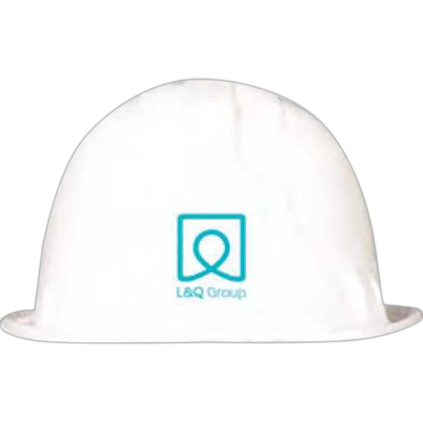 White - Plastic Construction Hats Photo