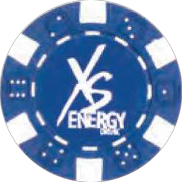 "Blue - Poker Chip, 1 1/2"" Photo"
