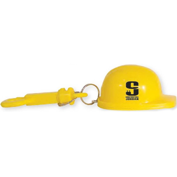 Construction Hat Bottle Opener with Belt Clip