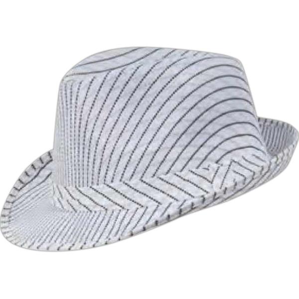 4696035f2b7 Pinstripe Fedora Hat | Everything Branded USA