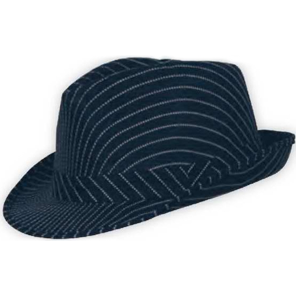 1091be1995 Pinstripe Fedora Hat