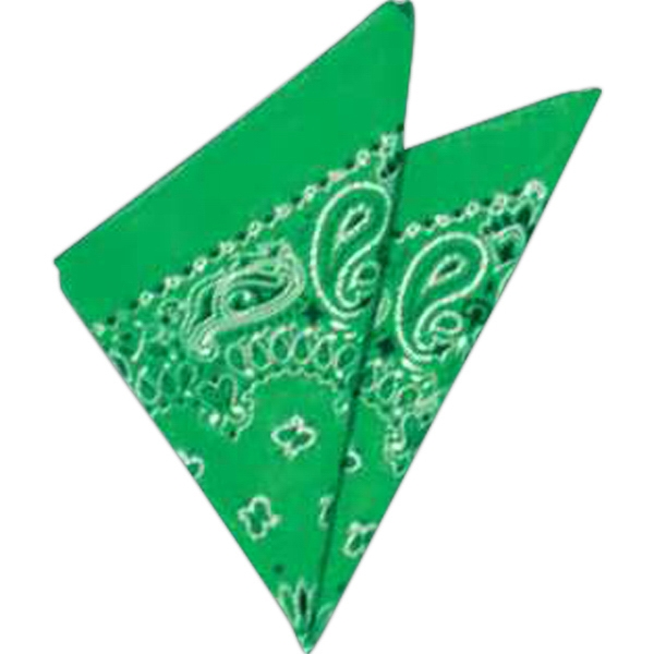 "Green - Bandana, 22"", Priced Per Pack Of 12, Blank Product Photo"