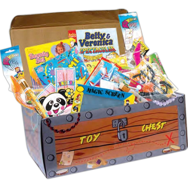 Value Pack Treasure Chest Filled With 100 Individually Wrapped Toys, Blank Product Photo