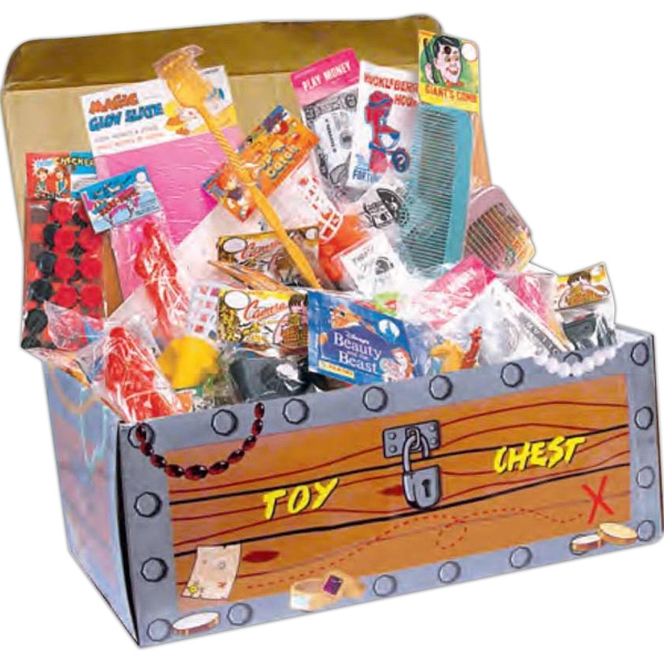 Bargain Toy Chest Assortment With 200 Individually Packaged Toys, Blank Photo