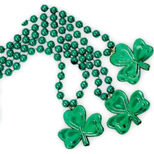 "Shamrock Beads 33"" Necklace, Price Per Pack Of 144, Blank Product Photo"