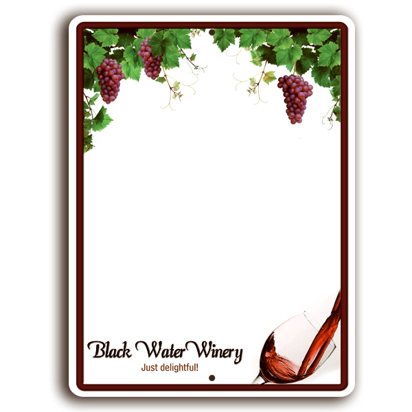 Embossed Aluminum White Board With 4 Color Process Imprint Photo