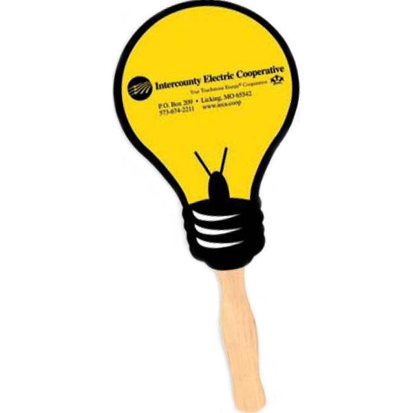 Light Bulb - Stock Shape Hand Held Fan With Handle Photo