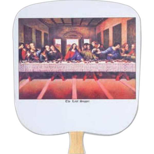 The Last Supper - Religious - Fan With Full Color Stock Picture On Coated Front Photo