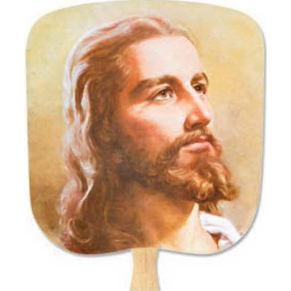 Christ The Lord - Religious - Fan With Full Color Stock Picture On Coated Front Photo