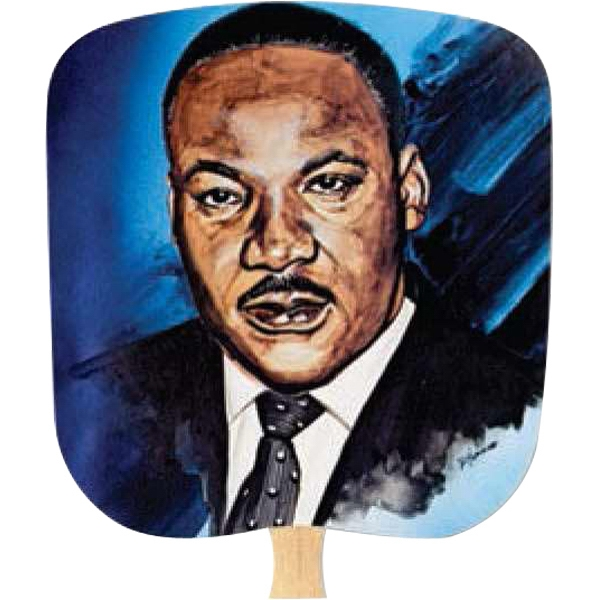 Martin Luther King - Inspirationals - Fan With Full Color Stock Picture On Coated Front Photo