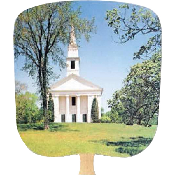 Chapel On The Hill - Religious - Fan With Full Color Stock Picture On Coated Front Photo