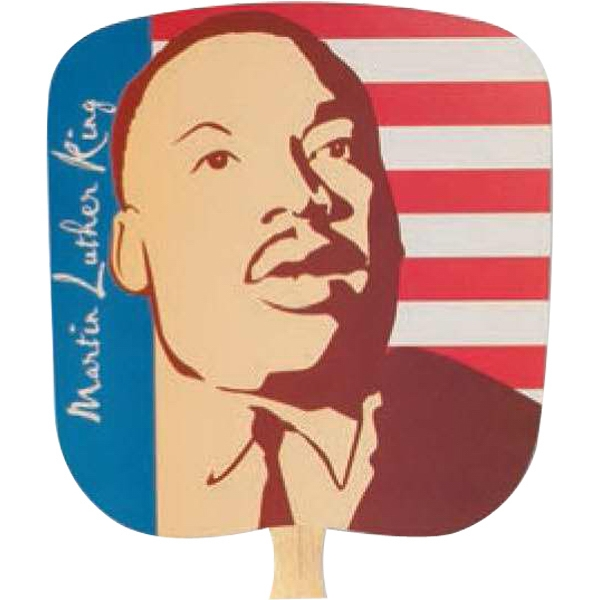 Martin Luther King. - Inspirationals - Fan With Full Color Stock Picture On Coated Front Photo
