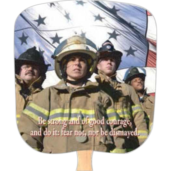 Fireman/courage - Inspirationals - Fan With Full Color Stock Picture On Coated Front Photo