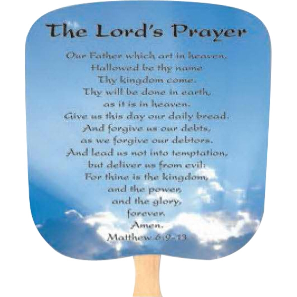 Lord's Prayer - Inspirationals - Fan With Full Color Stock Picture On Coated Front Photo