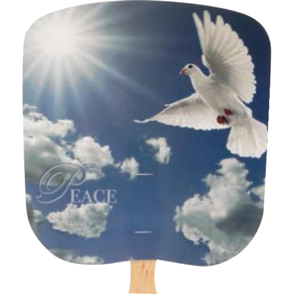Peace - Religious - Fan With Full Color Stock Picture On Coated Front Photo