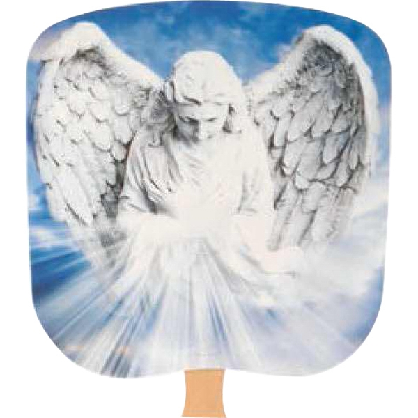 Angel - Religious - Fan With Full Color Stock Picture On Coated Front Photo