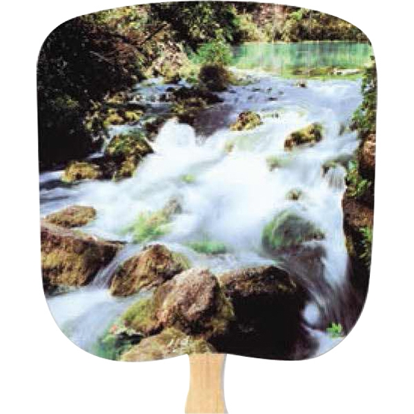 Cascade - Scenic - Fan With Full Color Stock Picture On Coated Front Photo