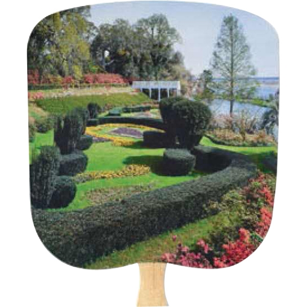 Formal Garden - Scenic - Fan With Full Color Stock Picture On Coated Front Photo