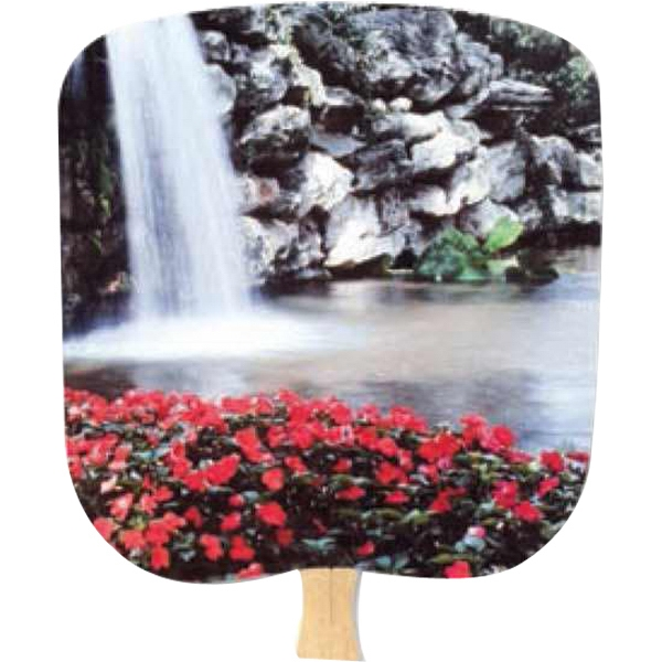 Calm Pool - Scenic - Fan With Full Color Stock Picture On Coated Front Photo