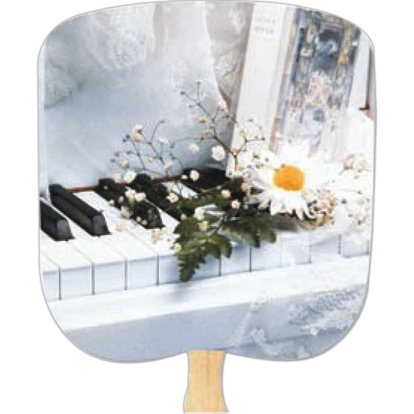 Wedding - Scenic - Fan With Full Color Stock Picture On Coated Front Photo