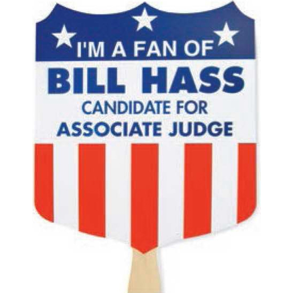 I'm A Fan Of... - Campaign Fan With Stock Two-color Design Photo