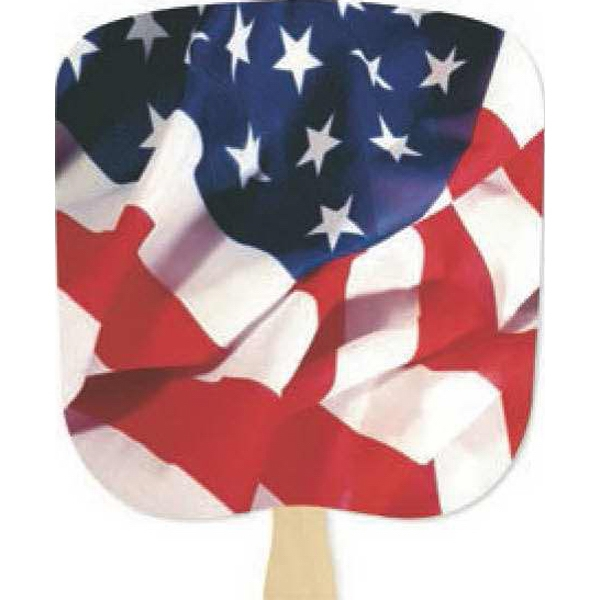 Flag - Patriotic Fan With Four Color Process Stock Design Photo
