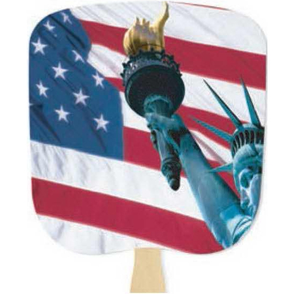 Liberty - Patriotic Fan With Four Color Process Stock Design Photo