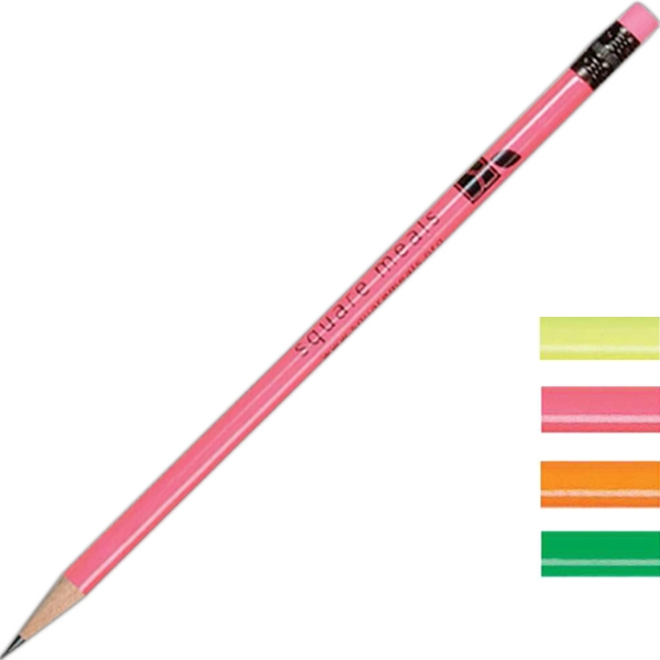 Economy Neon Pencil With Matching Eraser Photo