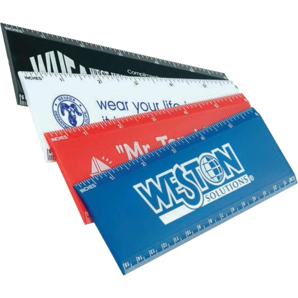 "6"" Ruler With Wide Body & Available In Inches Or Metric Photo"