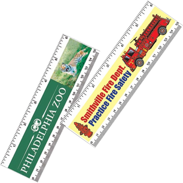 "Paper Ruler With Inch And Metric Scales, 6"" Photo"
