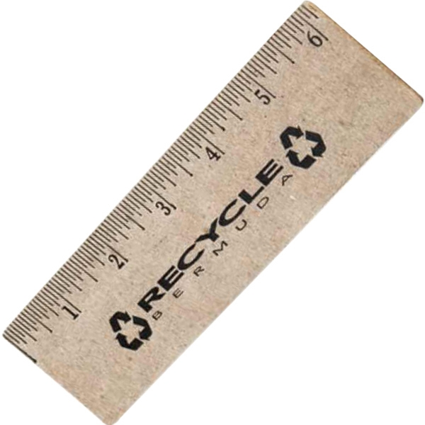 "6"" - Recycled Ruler Made From 100% Recycled Paper And Bonded With Glue Photo"