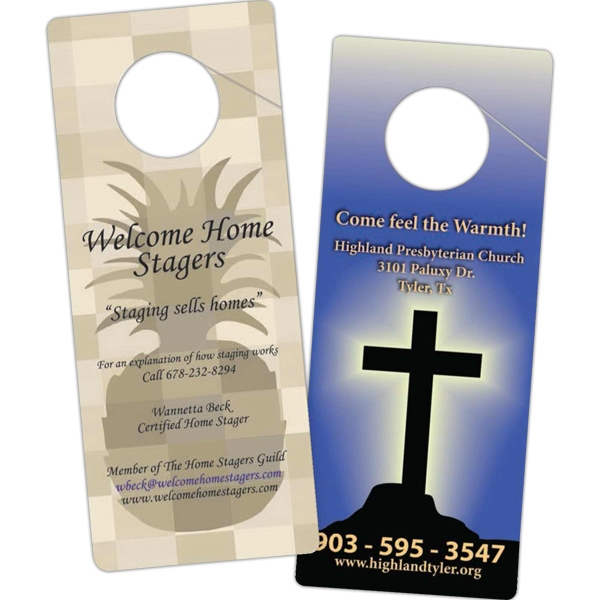Digital Printing Or Black Ink - Both Sides - Digital Printing - Custom Door Hanger Photo