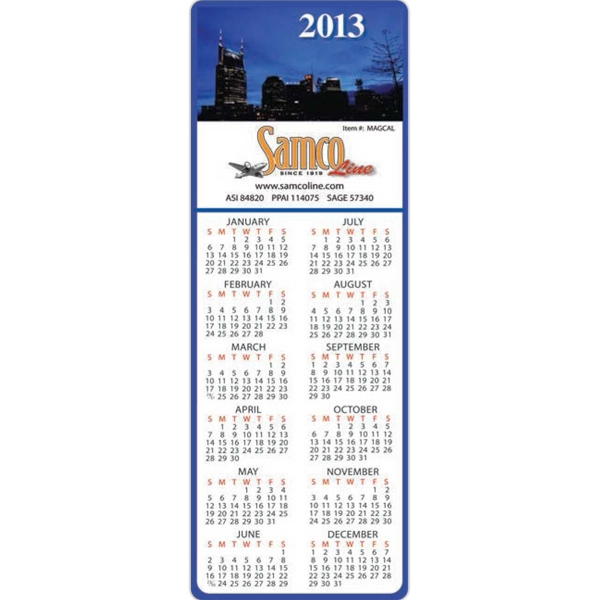 Rectangle Shape Magnet With Calendar, 20 Mil Thickness Photo