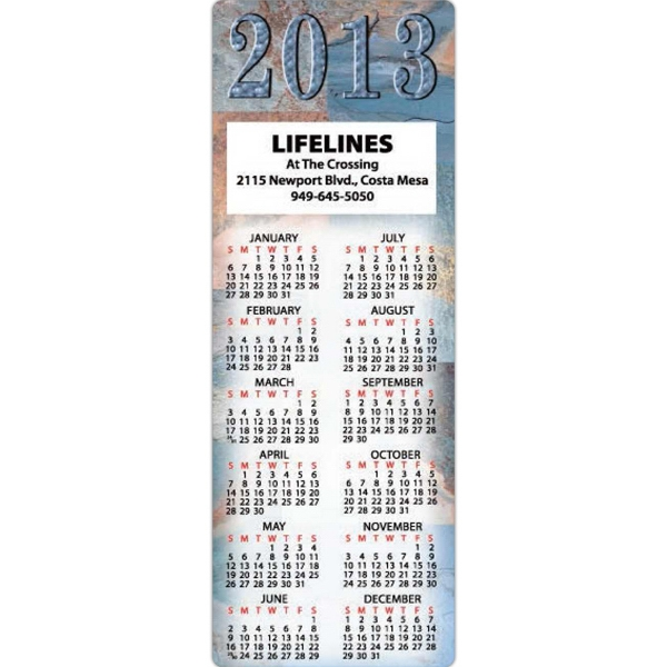 Marble Design Calendar Magnet, 20 Mil Thickness Photo