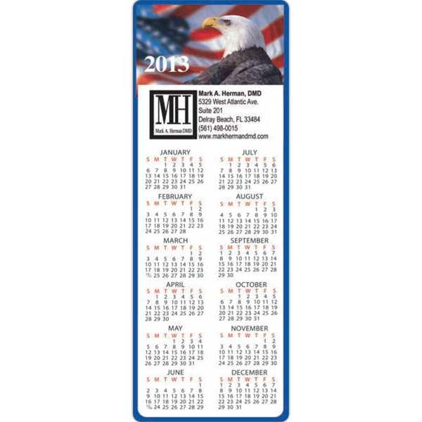 Patriotic Calendar Magnet, 20 Mil Thickness Photo