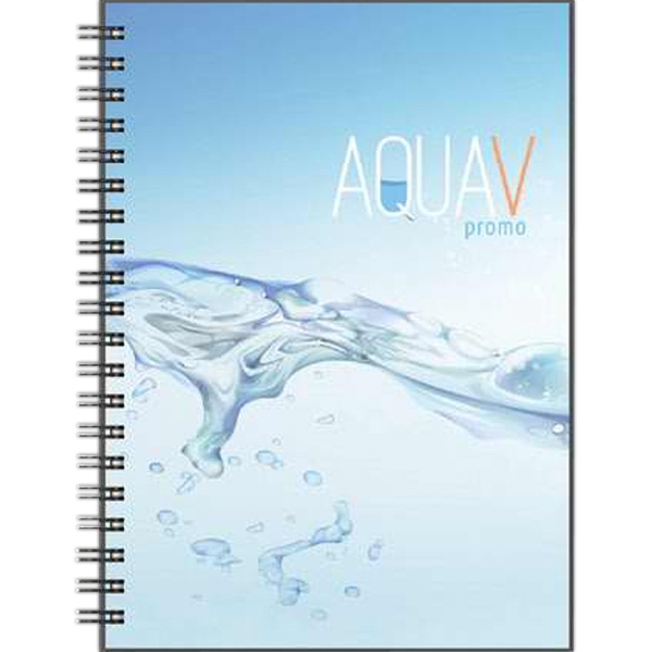 "Clearvalue (tm) - New Valueline 5"" X 7"" Journal With Poly Front Cover And Black Wire Binding Photo"