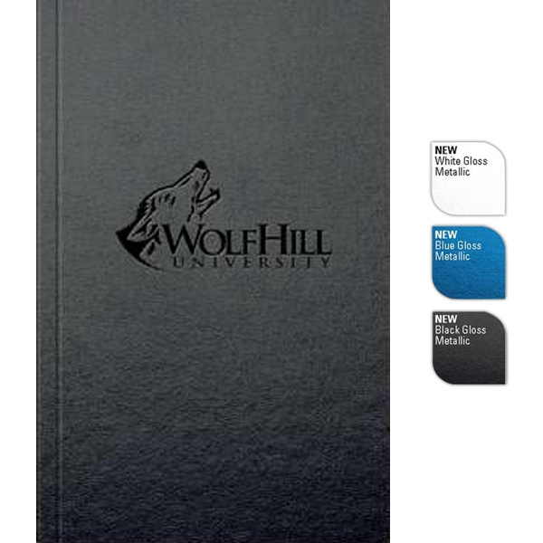 "Perfectbook (tm) - 4"" X 6"" Perfect-bound Large Jotter Pad, In Gloss Metallic Finish, 100 Sheets Paper Photo"