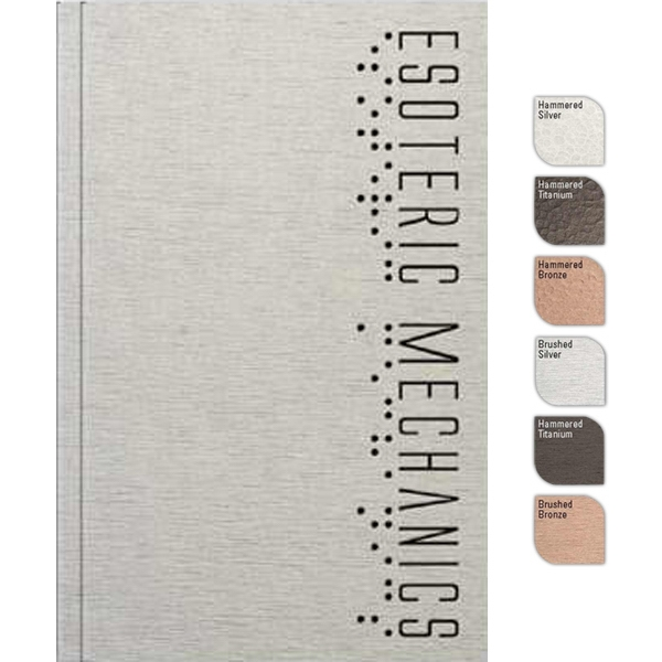 "Perfectbook (tm) - 4"" X 6"" Perfect-bound Large Jotter Pad, In Metallic Finish, 100 Sheets Paper Photo"