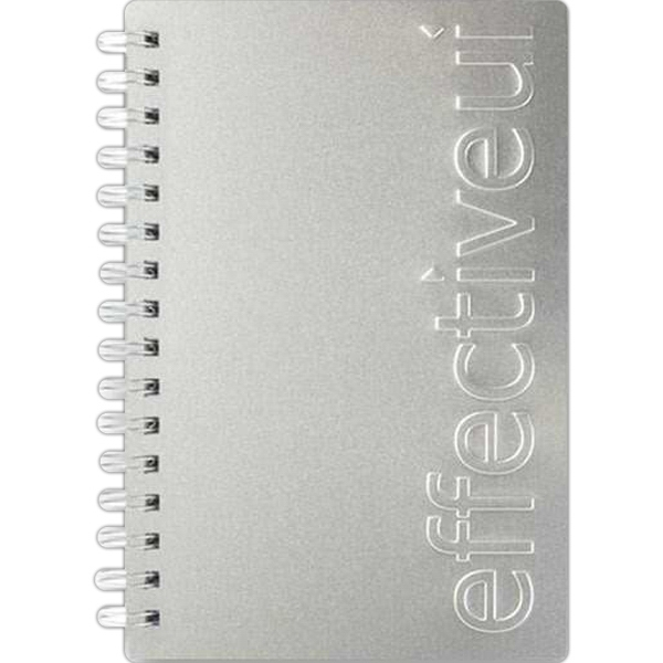 "Alloyjournal (tm) - 5.5"" X 8.5"" Seminar Pad With Silver Aluminum Front And Black Paperboard Back Cover Photo"