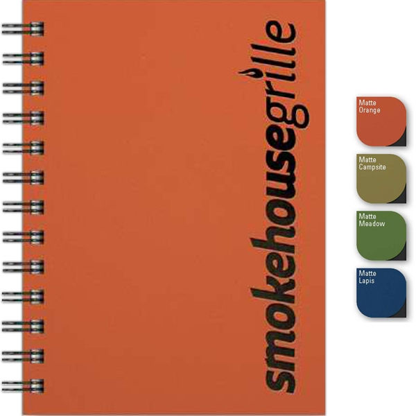 "Smoothmatte Journal (tm) - 5"" X 7"" Small Journal With Smooth Matte Paperboard Front Cover, 100 Sheets Paper Photo"